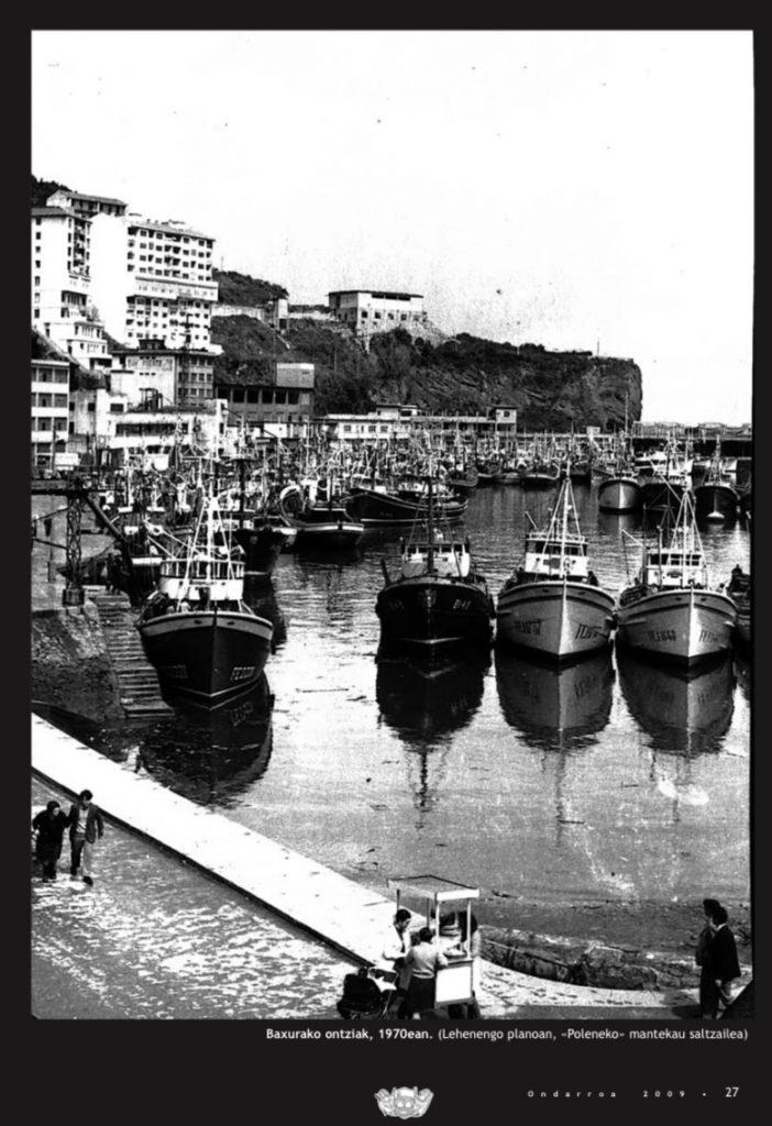 El puerto de Ondarroa en 1970