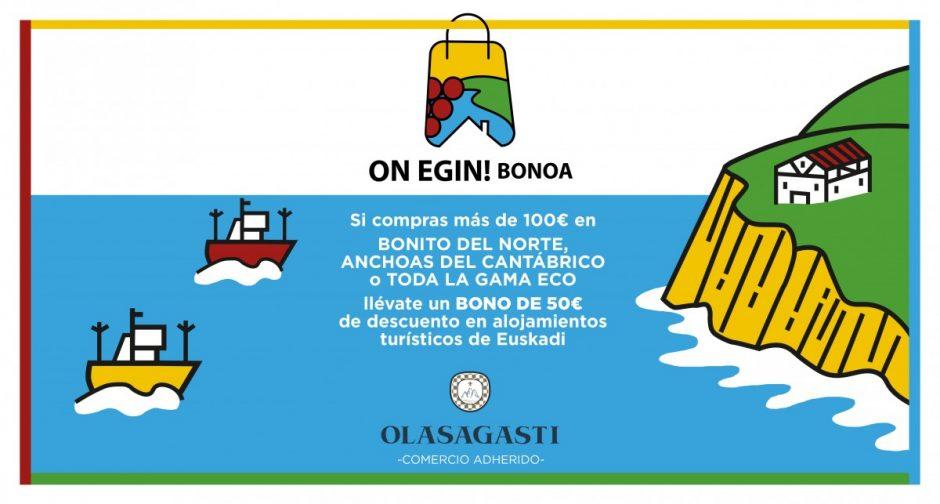 bono on egin de descuento en turismo vasco de conservas Olasagasti