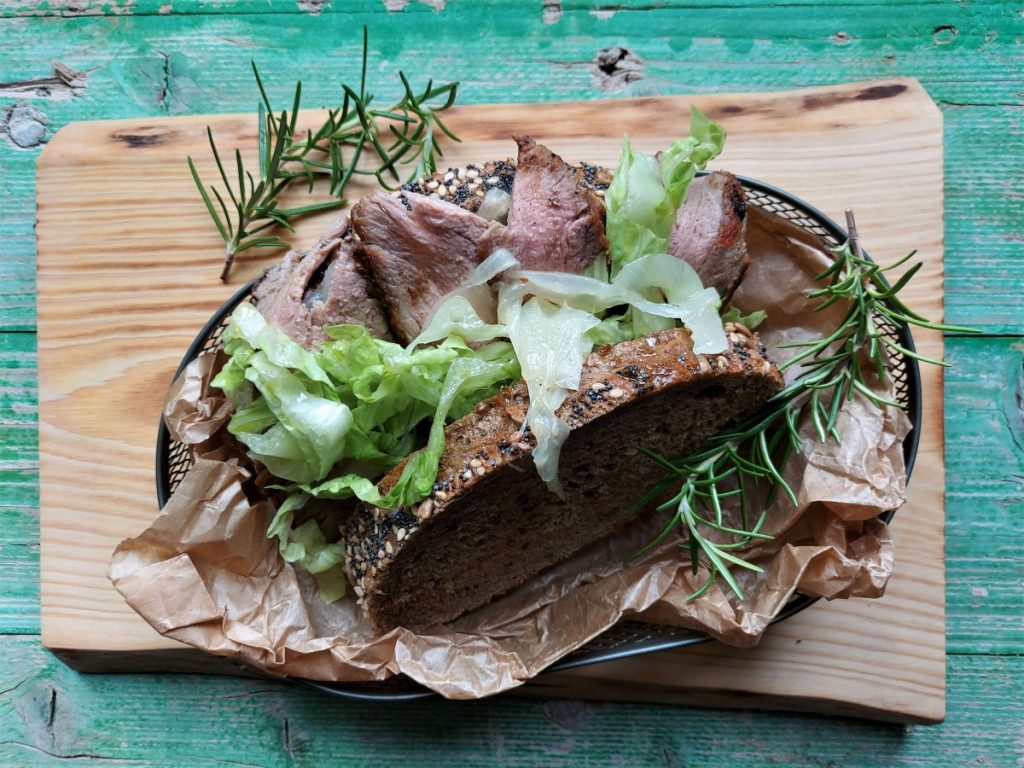 Bocadillo de carne de Jamie Oliver.